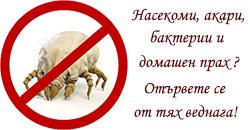 Отървете се от акарите, бактериите и насекомите