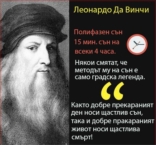 Леонардо Да Винчи и сънят